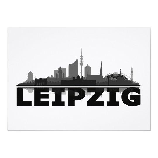 """City de Leipzig horizonte postal, Klappkarte/ Invitación 4.5"""" X 6.25"""""""