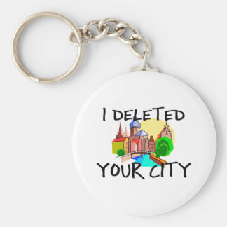 City Deleted Keychain