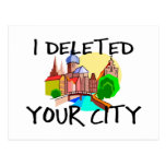 City Deleted Postcard