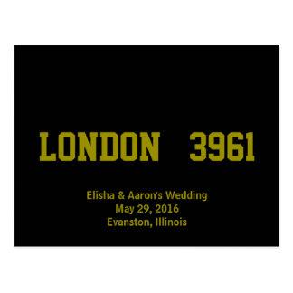 City & Distance Wedding Table Postcards