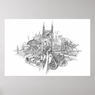 City Drawing Print