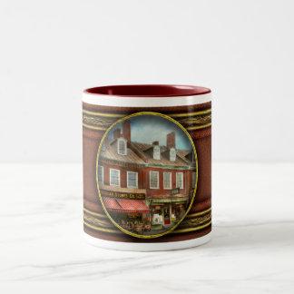 City - Easton MD - A slice of American life 1936 Two-Tone Coffee Mug