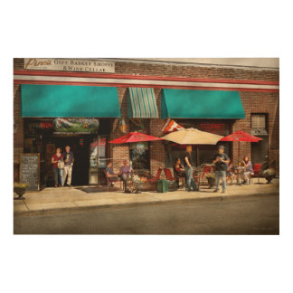 City - Edison NJ - Pino's basket shop Wood Print