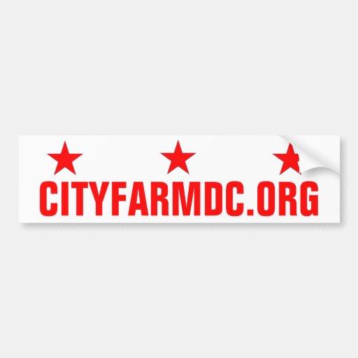 City Farm DC Car Bumper Sticker