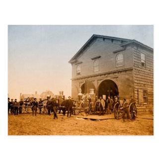 City Fire House Postcard