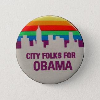 City Folks for Obama Pinback Button