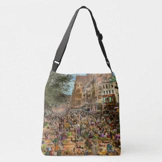 City - France - Les Halles de Paris 1920 Crossbody Bag