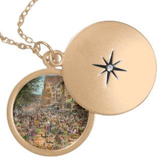 City - France - Les Halles de Paris 1920 Gold Plated Necklace