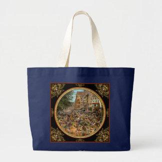 City - France - Les Halles de Paris 1920 Large Tote Bag