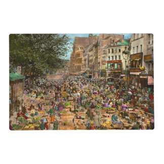City - France - Les Halles de Paris 1920 Placemat