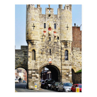 City Gate In York In North Yorkshire Postcard