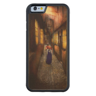 City - Germany - Alley - A long hard life 1904 Carved Maple iPhone 6 Bumper Case