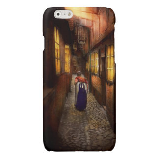 City - Germany - Alley - A long hard life 1904 Glossy iPhone 6 Case