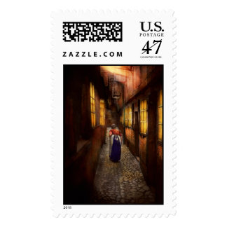 City - Germany - Alley - A long hard life 1904 Postage Stamp