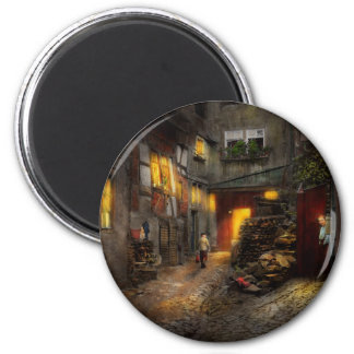 City - Germany - Alley - Coming home late 1904 2 Inch Round Magnet