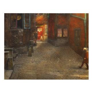 City - Germany - On a corner street 1904 Panel Wall Art