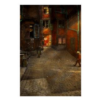 City - Germany - On a corner street 1904 Poster