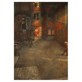 City - Germany - On a corner street 1904 Wood Poster
