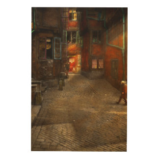 City - Germany - On a corner street 1904 Wood Wall Decor