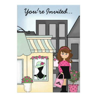 City Girl Party Invitation 1 ~ Customize!