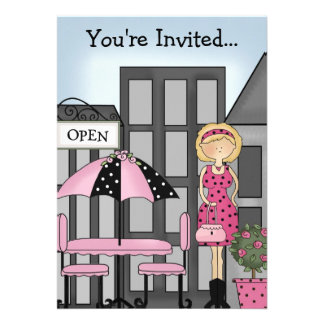 City Girl Party Invitation 2 ~ Customize!