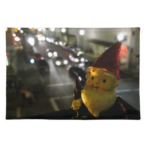 City Gnome Cloth Placemat
