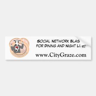 City Graze Car Bumper Sticker