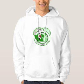 City Graze Green Hooded Pullover