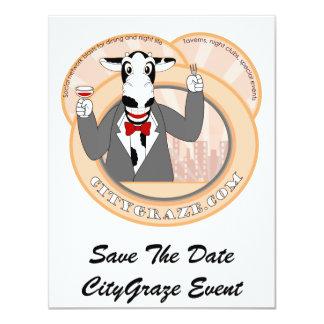 City Graze 4.25x5.5 Paper Invitation Card