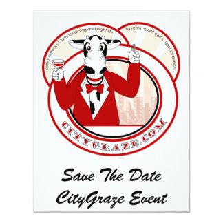City Graze Red 4.25x5.5 Paper Invitation Card