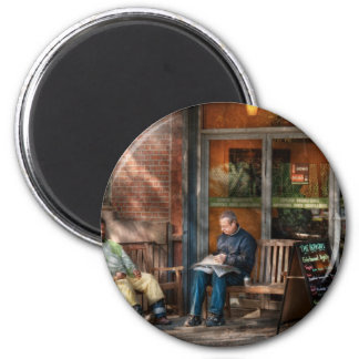 City - Greenwich Village - The path cafe 2 Inch Round Magnet