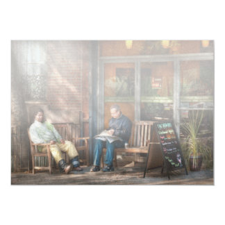 "City - Greenwich Village - The path cafe 5"" X 7"" Invitation Card"
