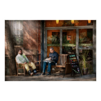 City - Greenwich Village - The path cafe Posters