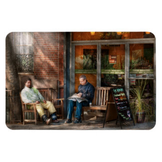 City - Greenwich Village - The path cafe Rectangular Photo Magnet