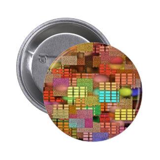 City Grid IV 2 Inch Round Button