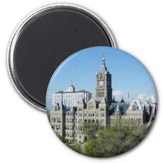 City Hall 2 Inch Round Magnet