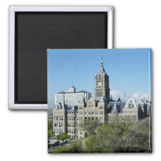 City Hall 2 Inch Square Magnet