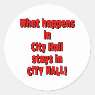 City Hall Classic Round Sticker