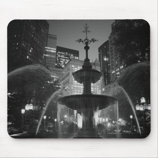 City Hall Fountain Mouse Pad