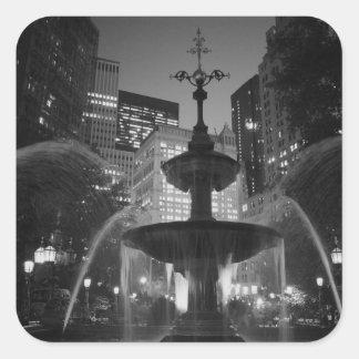 City Hall Fountain Square Sticker