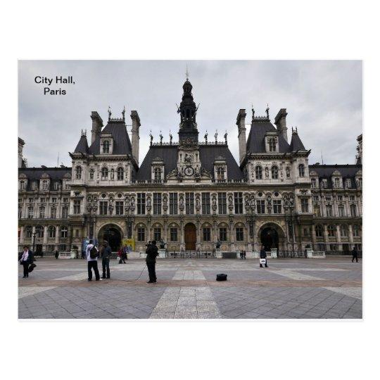 City Hall in Paris, France Postcard