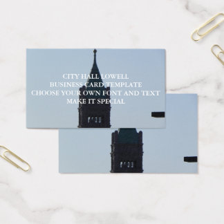 CITY HALL LOWELL BUSINESS CARD TEMPLATE