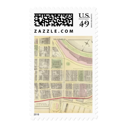 City Hall Market Square Exchange Place Atlas Map Postage