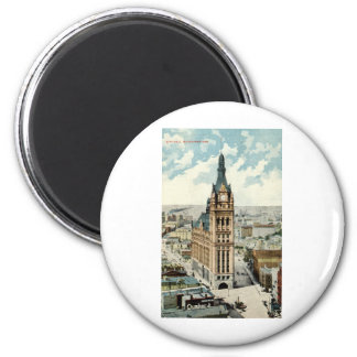 City Hall Milwaukee WI Repro Vintage 1911 2 Inch Round Magnet