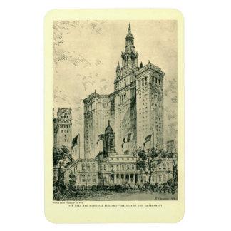 City Hall, New York City Vintage Rectangular Photo Magnet