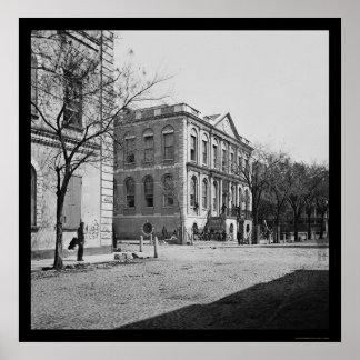 City Hall of Charleston, SC 1865 Print