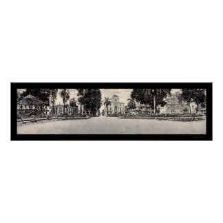 City Hall Panama Photo 1913 Poster