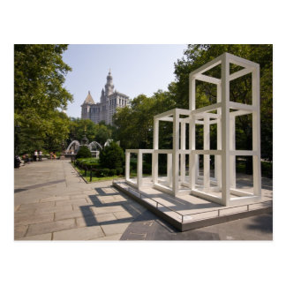 City Hall Park and Art Installation Postcard