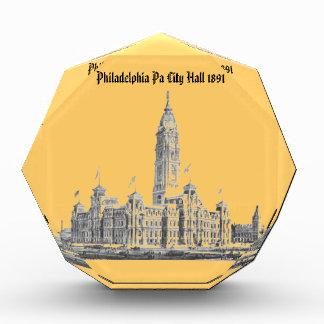 City Hall Philadelphia PA 1891 Acrylic Award