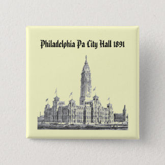 City Hall Philadelphia PA 1891 Button